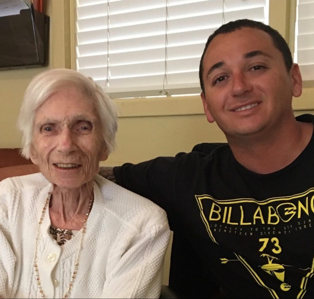Mack with his grandma